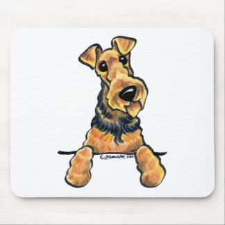 Airedale Terrier Line Art Mouse Pads