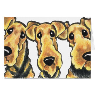 Airedale Terrier Lover Card