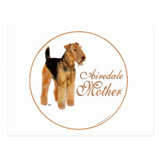 Airedale Terrier Mother s Day Postcard