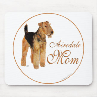 Airedale Terrier Mothers Day Mouse Pads
