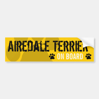 Airedale Terrier on Board Bumper Sticker