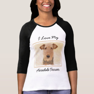 Airedale Terrier Painting - Cute Original Dog Art T-Shirt