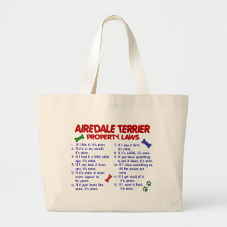 AIREDALE TERRIER Property Laws 2 Large Tote Bag