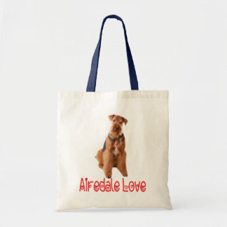 Airedale Terrier Puppy Dog Canvas Beach Totebag Tote Bag