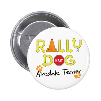 Airedale Terrier Rally Dog 6 Cm Round Badge
