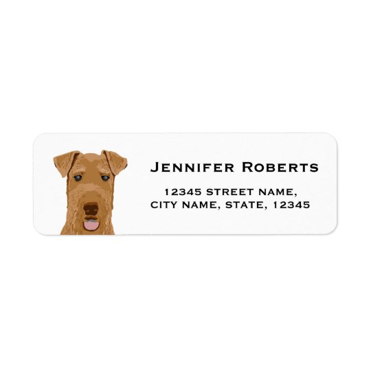 airedale terrier return address labels