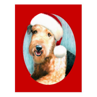 Airedale Terrier Santa Post Cards
