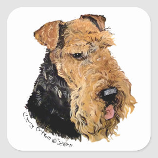 Airedale Terrier Square Sticker