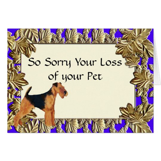 Airedale Terrier ~ Sympathy Greeting Card