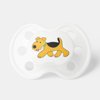 Airedale Terrier Trotting Puppy Dog Pacifier