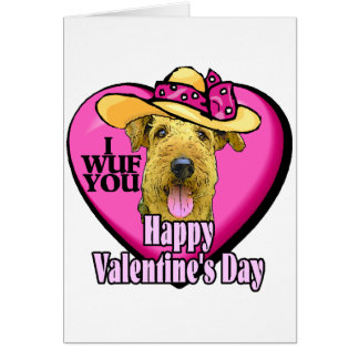 Airedale Terrier Valentines Gifts Cards