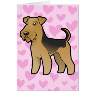 Airedale Terrier / Welsh Terrier Love Card