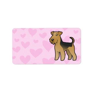 Airedale Terrier / Welsh Terrier Love Address Label