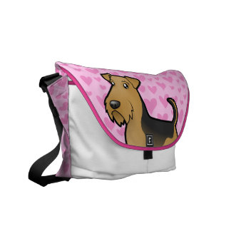 Airedale Terrier / Welsh Terrier Love Messenger Bags