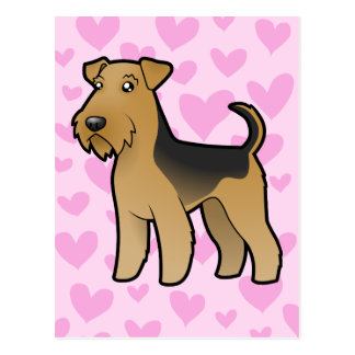 Airedale Terrier / Welsh Terrier Love Postcard