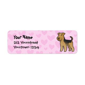 Airedale Terrier / Welsh Terrier Love Return Address Label