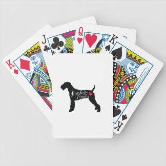 Airedale Terrier with Heart Dog Breed Love Poker Deck