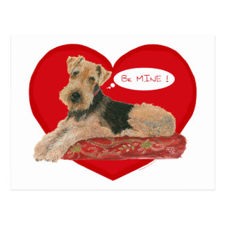 Airedale Welsh Terrier Valentine Post Cards