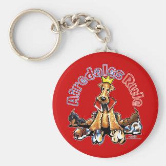 Airedales Rule Key Chain