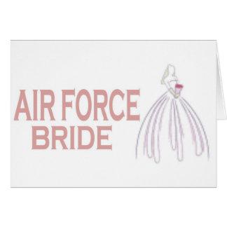 AIRFORCE BRIDE GREETING CARD