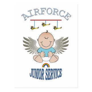 AIRFORCE JUNIOR SERVICE POSTCARD