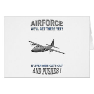 AIRFORCE TRANSPORT SQUADRONS GREETING CARD