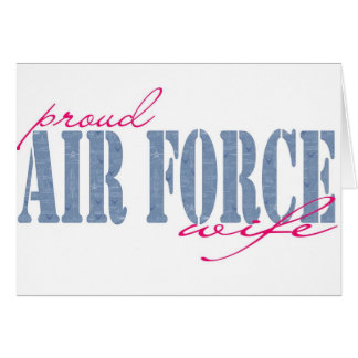 Airforce Wife Greeting Card