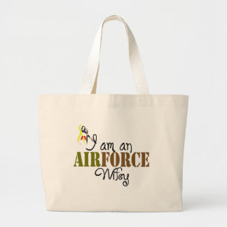 airforce wife jumbo tote bag