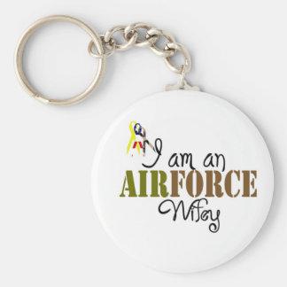 airforce wife keychain