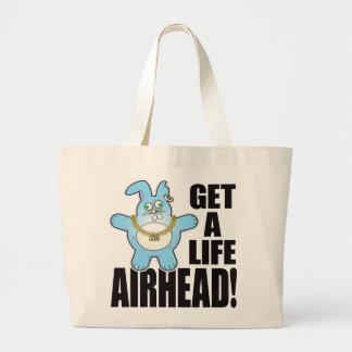 Airhead Bad Bun Life Large Tote Bag
