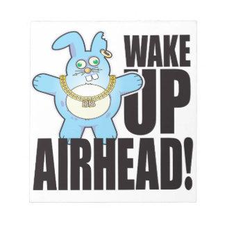 Airhead Bad Bun Wake Notepad