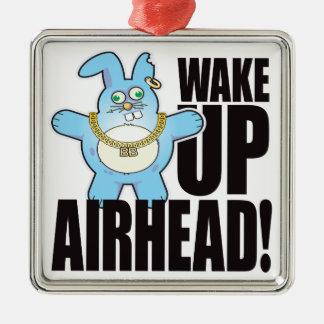 Airhead Bad Bun Wake Silver-Colored Square Decoration