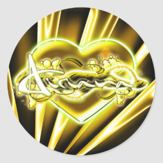 Airiana Round Sticker