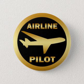 AIRLINE PILOT 6 CM ROUND BADGE