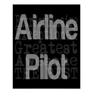 Airline Pilot Extraordinaire Poster