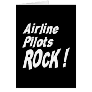 Airline Pilots Rock! Greeting Card