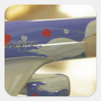 Airline Square Stickers