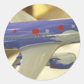Airline Round Sticker