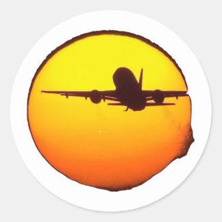 AIRLINE SUN ROUND STICKER