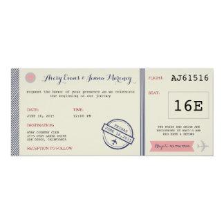 Airline Ticket Destination Wedding Invitation