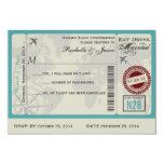 Airline Ticket Wedding RSVP Custom Invite