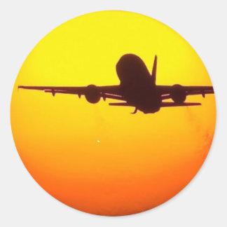 AIRLINER SUN ROUND STICKER