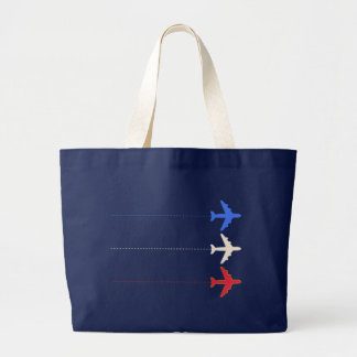 airlines airplanes large tote bag