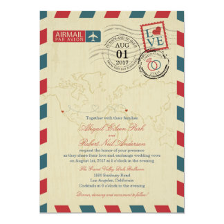 Airmail California and Syria | Wedding Cards