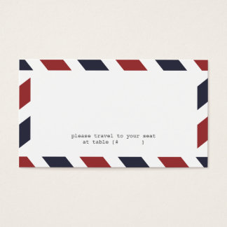Airmail Escort Card