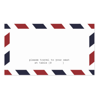 Airmail Escort Card Pack Of Standard Business Cards