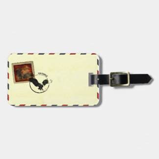 airmail luggage tag