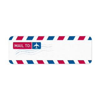 Airmail - MAIL TO: Return Address Label