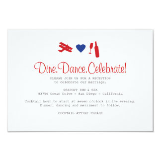 Airmail Reception Card 9 Cm X 13 Cm Invitation Card