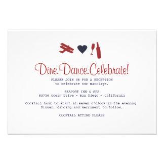 Airmail Reception Card Custom Invitation
